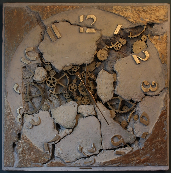 zegar loft design, Zegar ścienny, Gear Clock, Instalacja